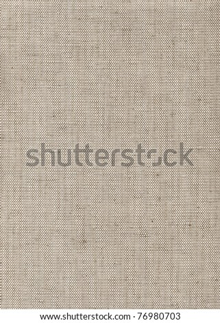 Beige linen upholstery texture - stock photo