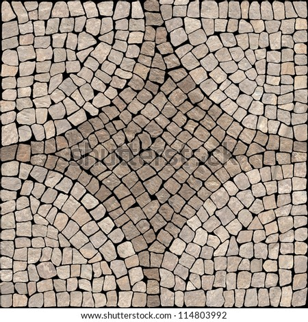 Beige marble-stone mosaic texture. (High.res.) - stock photo