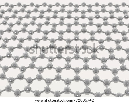 beige molecular lattice on white