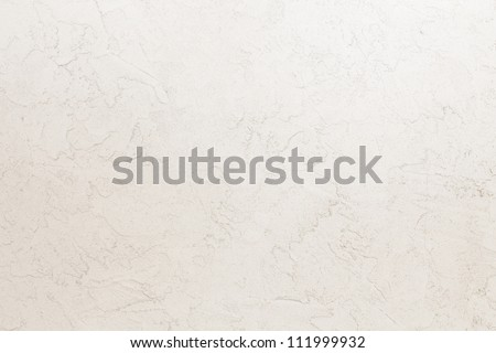 beige mortar wall texture. Hand applied mortar wall. - stock photo