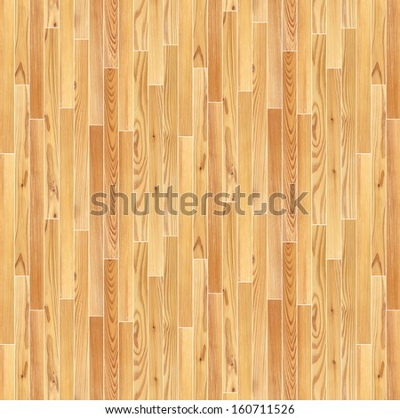 beige parquet planks parallel mounted on the floor - stock photo
