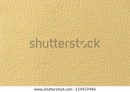 Beige Patterned Faux Leather Texture - stock photo