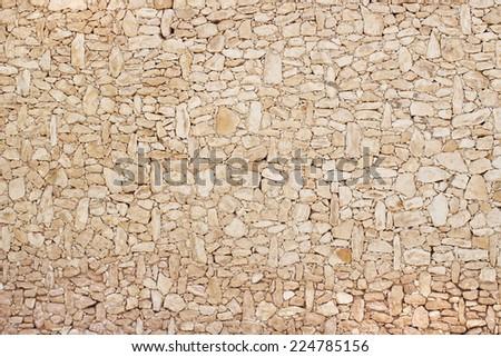 BEIGE STONE WALL  - stock photo