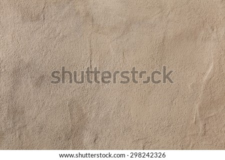 Beige stucco wall. Background texture. - stock photo