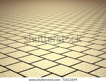 beige tiled floor