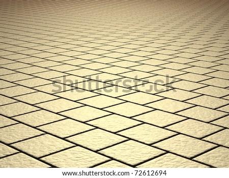 beige tiled floor - stock photo