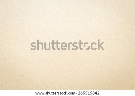 Beige tone water color paper texture: Water-colour paper texture background in light beige tone with vignette  - stock photo