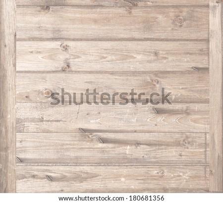 beige wood texture, nature background - stock photo