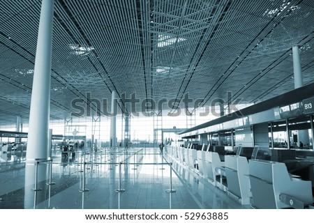 Beijing Airport's hall - stock photo