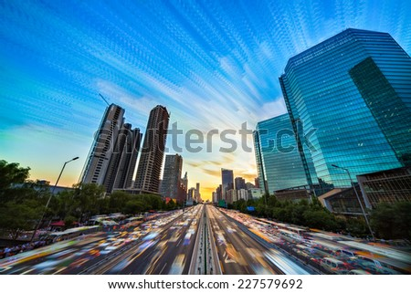 Beijing architecture. This file is made up of more than 150 photographs to get a new effect. - stock photo