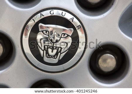 BEIJING, CHINA   APRIL 2015: Detail Of The Wheel Of A Jaguar Car In