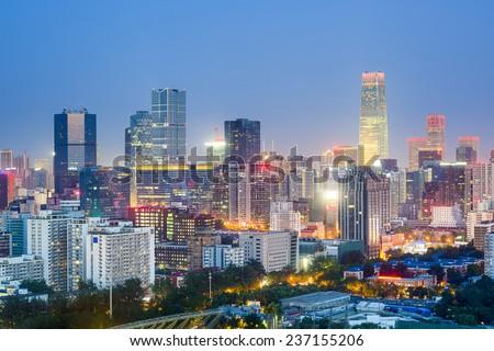 Beijing, China downtown city skyline. - stock photo