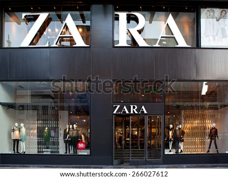 BEIJING, CHINA - NOVEMBER 17, 2014: Zara store. Zara is one of the largest international fashion companies and it's the flagship chain store of the Inditex group. - stock photo