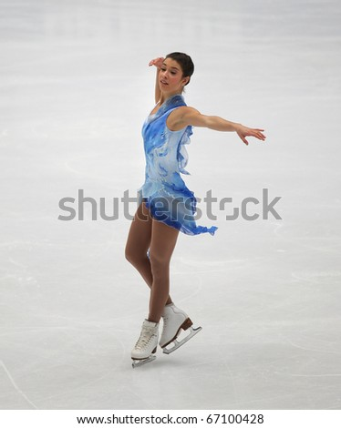BEIJING-DEC 11: Alissa Czisny of USA performs in the Ladies-Free Skating event of the ISU Grand Prix of Figure Skating Final on Dec 11, 2010 in Beijing, China.