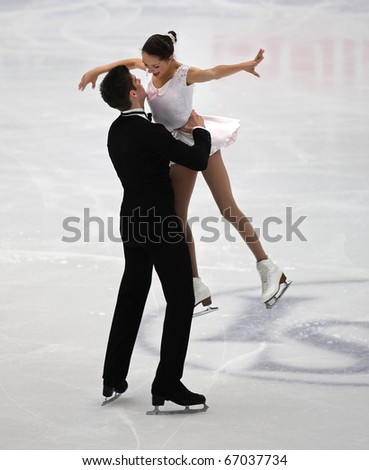 BEIJING-DEC 11: Brittany Jones and Kurtis Gaskell of Canada perform in the Junior Pairs-Free Skating event of the ISU Grand Prix of Figure Skating Final on Dec 11, 2010 in Beijing, China.