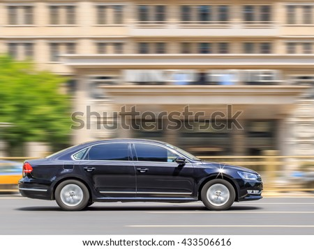 BEIJING-MAY 4, 2016. Volkswagen Passat. Volkswagen sales grew 6.4 percent in China in the first quarter compared to a year prior, bouncing back from 3.4 percent decline in sales for full-year 2015. - stock photo