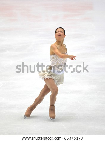 BEIJING-NOV 6: Akiko Suzuki of Japan performs in the Ladies-Free Skating event of the SAMSUNG Cup of China ISU Grand Prix of Figure Skating 2010 on Nov 6, 2010 in Beijing, China.