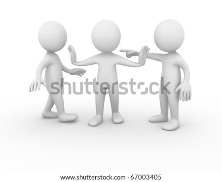 Being separated - stock photo