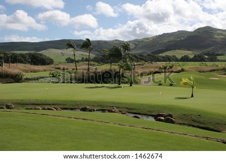 Bel Ombre Golf Course (landscape) - stock photo