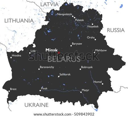 Belarus Map Stock Images RoyaltyFree Images Vectors Shutterstock - Belarus map