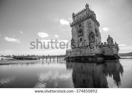 Belem Tower in Lisbon, Portugal.