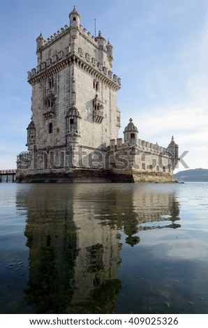 Belem Tower is a fortified tower located in the civil parish of Santa Maria de Belem in the municipality of Lisbon, Portugal.