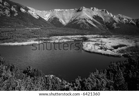 Beler Tatra mountains in autumn,Trojrohe pleso, Western Carpathians, Slovakia