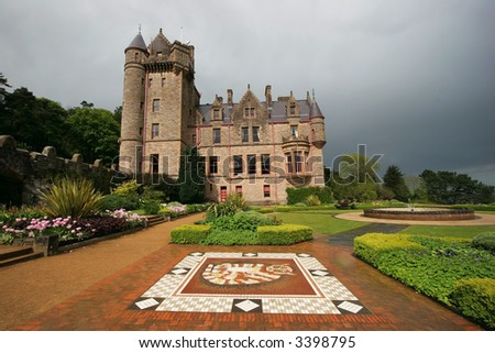 Belfast Castle and gardens, Belfast, Ireland - stock photo