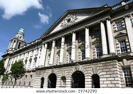 Belfast City Hall on a sunny day - stock photo