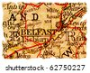 Belfast, Norhtern Ireland on an old torn map from 1949, isolated. Part of the old map series. - stock photo