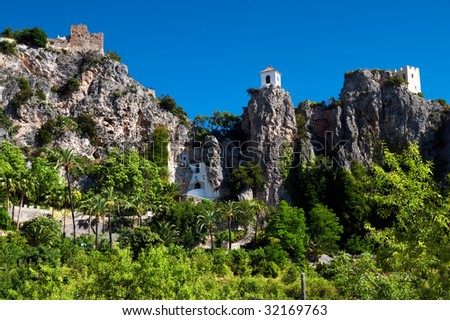 Belfry of Guadalest - stock photo