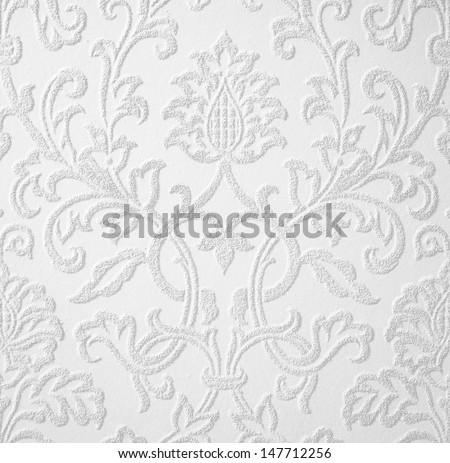 Belgium ancient white baroque repeating design - stock photo