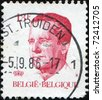 BELGIUM - CIRCA 19867: A post stamp printed in Belgium shows King Baudouin, series, circa 1986 - stock photo