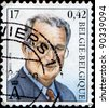 BELGIUM - CIRCA 1999: A stamp printed in Belgium shows Albert II of Belgium, circa 1999 - stock photo