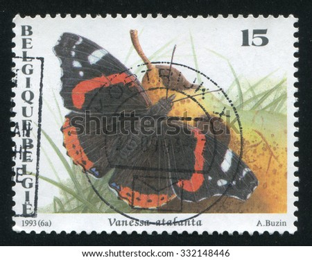 BELGIUM - CIRCA 1993: stamp printed by Belgium, shows butterfly, circa 1993