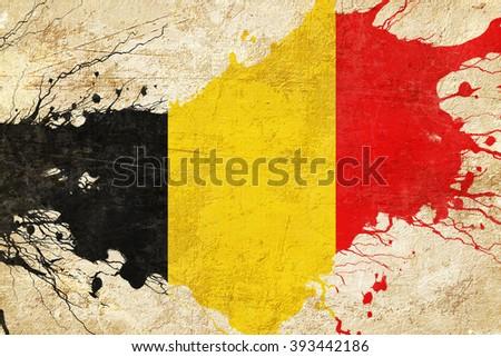 Belgium flag - stock photo