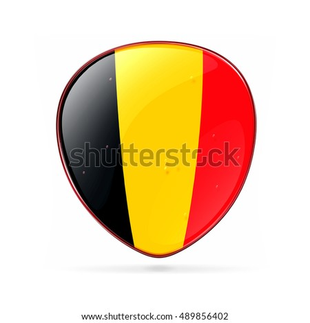 Belgium Flag Icon, isolated on white background.