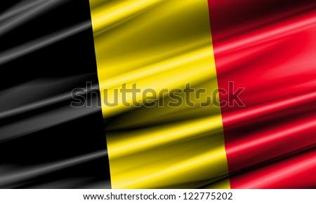 Belgium Waving Flag - stock photo