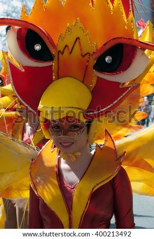 "BELGRADE-APRIL 3:Unidentified participant of carnival on "" The 4th.Rakovica International Carnival 2016"", on April 3, 2016 in Belgrade, Serbia.  - stock photo"