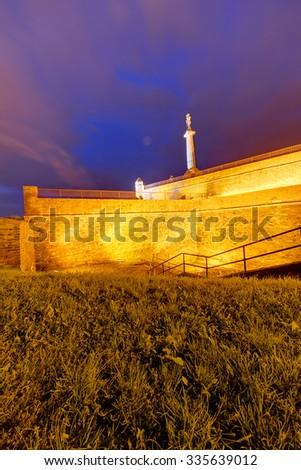 Belgrade fortress and Kalemegdan park, Belgrade Serbia - stock photo