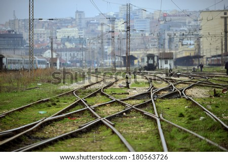 Belgrade freight depot - stock photo