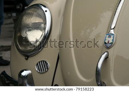 BELGRADE - JUNE 11: A Volkswagen Beetle on Oldtimer's Motor Show June 11, 2011 in Belgrade, Serbia. - stock photo