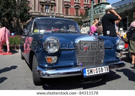 BELGRADE - SEPTEMBER 3: A Mercedes W110 on Oldtimer's Car Show September 3, 2011 in Belgrade, Serbia. - stock photo