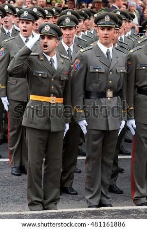 BELGRADE - SEPTEMBER 10:Promotion of new Serbian army officers,New Serbian officers ,SEPTEMBER 10,2016 in BELGRADE, SERBIA