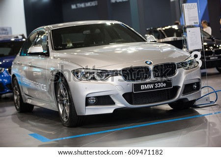 Belgrade, Serbia - March 23, 2017: New BMW 3 Series M Performance presented at Belgrade 53th International Motor Show - MSA (OICA).