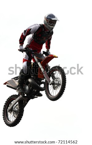 BELGRADE, SERBIA - MAY 31: Unidentified motocross rider on Red Bull X Fighters Exhibition Tour in Belgrade, Serbia on May 31, 2009.