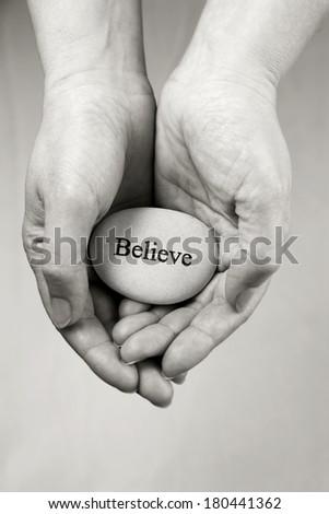 Believe - stock photo