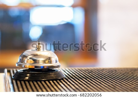 Bell at reception desk