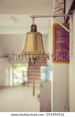 bell in police station thailand