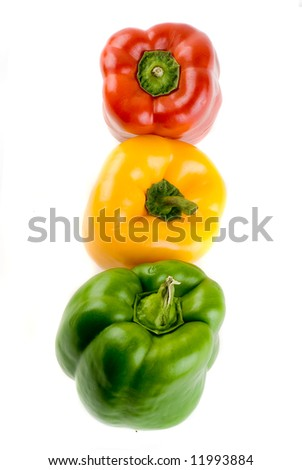 Bell Pepper Stoplight - Red, Yellow and Green